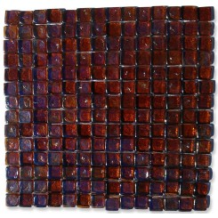 Gaby Dorado Square Glass Tiles  (Meshless)