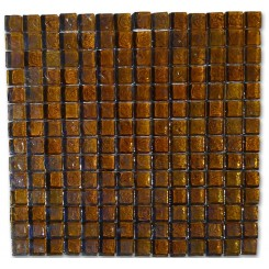 Gaby Dusty Gold Squares Glass Tiles  (Meshless)