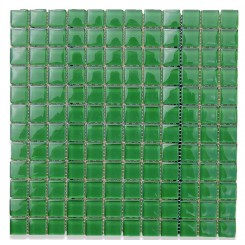 Loft Emerald 1 x 1 Glass Tiles