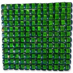 Gaby Emerald Bubble Glass Tiles  (Meshless)