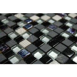 sample- METALLIC ETCHED BLACK ICE BLEND 1/4 SHEET  TILES SAMPLE_MAIN