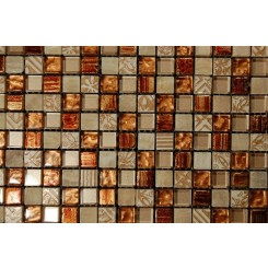 sample- METALLIC ETCHED PHARAOH'S GOLD BLEND 1/4 SHEET  TILES SAMPLE_MAIN