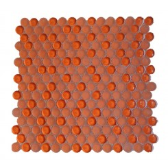 Loft Flame Penny Round Glass Tiles