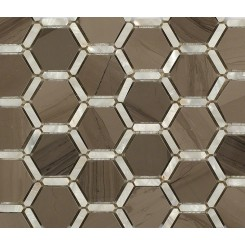 Florentine Pearl Athens Gray Marble and Pearl Glass Tile