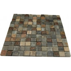 FUSION CHINKAPIN 1X1 MARBLE & GLASS TILES_MAIN