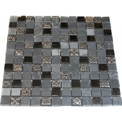 FUSION KOUSA 1X1 MARBLE GLASS &amp; METAL TILES_MAIN