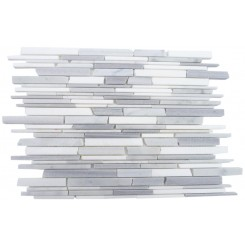 Gray Clouds Free Form Cracked Joint Brick Marble Tile