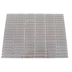Loft Hot Coco 1/2 x 2 Stacked Glass Tiles