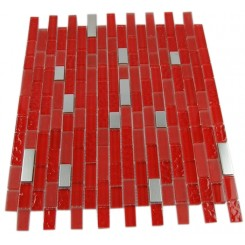 HELL'S KITCHEN BLEND BRICK PATTERN 1/2 X 2&quot; GLASS &amp; METAL TILES BRICK&quot;_MAIN