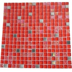 HELL'S KITCHEN BLEND SQUARES 1/2 X 1/2&quot; GLASS &amp; METAL TILES SQUARES&quot;_MAIN