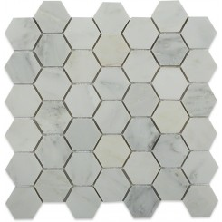 Asian Statuary Hexagon Marble Mosaics