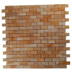 HONEY ONYX 1/2X1 MARBLE MOSAICS_MAIN