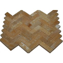 HONEY ONYX HERRINGBONE 1X3 MARBLE MOSAIC TILES_MAIN