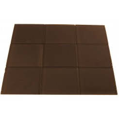 Loft Irish Coffee 4x4 Glass Tile