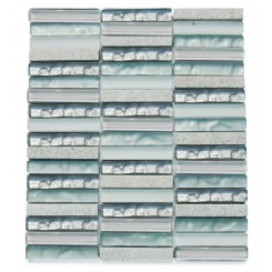Alloy Iceland 1/2 x 4 Stacked Glass Tile