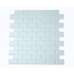 Ice White Polished 3/4 X 1 3/4 Glass Tile