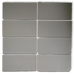 Loft Ice White Frosted 3x6 Tumbled Edge Glass Tiles