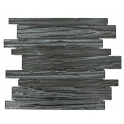 Terrene Black Locust Planks 1x12 Glass Tile