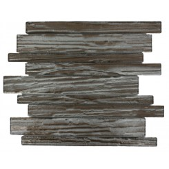 Terrene Rosewood Planks 1x12 Glass Tile