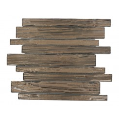 Terrene Copper Beech Planks 1x12 Glass Tile