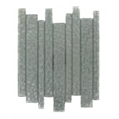 Terrene Snow Cap Planks 1x12 Glass Tile