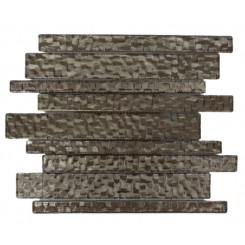 Terrene Chrome Planks 1x12 Glass Tile
