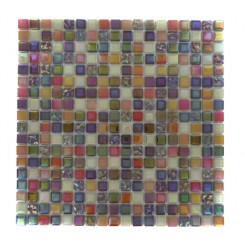 Whimsical Fairy Dust Glass Tile