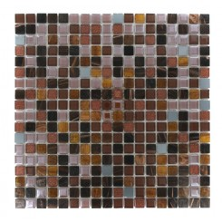 Whimsical Rustic Bark Glass Tile