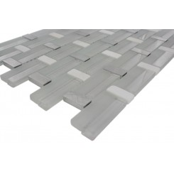 Sample-Trestle Super White Mosaic Tile 1/4 Sheet Sample
