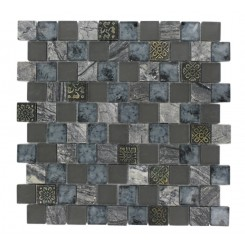 Vestige Evening Shadow Marble &amp; Glass Tiles