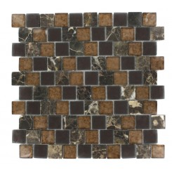 Vestige Terra Brown Marble &amp; Glass Tiles