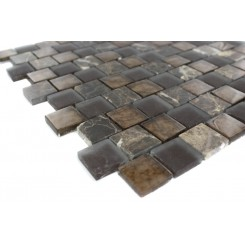Sample-vestige Terra Brown 1/4 Sheet Tiles Sample