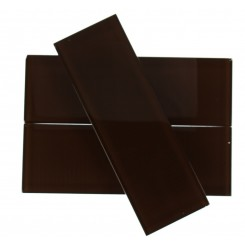 LOFT MAHOGANY POLISHED 4 X 12&quot; GLASS TILES&quot;_MAIN