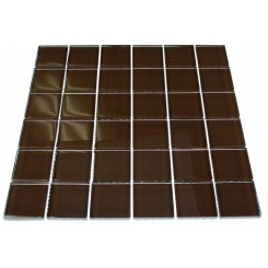 LOFT MAHOGANY POLISHED 2 X 2&quot; GLASS TILES&quot;_MAIN