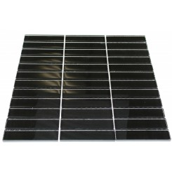 LOFT CLASSIC BLACK POLISHED 1 X 4&quot; GLASS TILES&quot;_MAIN
