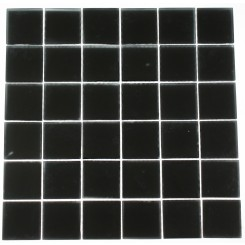 Loft Classic Black Frosted 2x2 Pattern Glass Tile