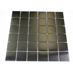 METAL SILVER STAINLESS STEEL  2X2 SQUARE TILES_MAIN