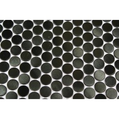 sample-METAL BLACK STAINLESS STEEL 3/5 PENNY ROUND TILES SAMPLE_MAIN