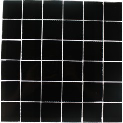 Loft Classic Black Polished 2x2 Pattern Glass Tile