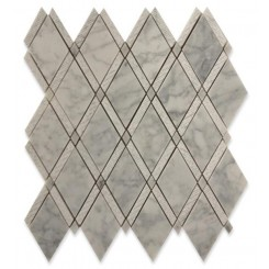 Imperial Textured White Carrera Marble Tile