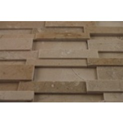 sample-ILLUSION 3D BRICK PATTEREN CREMA MARFIL 1/4 SHEET SAMPLE_1