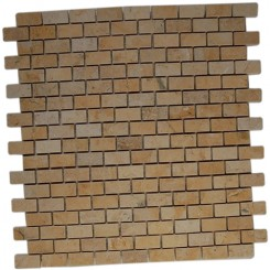 JERUSALEM GOLD 1/2 X 1  CLASSIC BRICK MARBLE TILES_MAIN