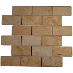 Jerusalem Gold 2x4 Beveled Marble Tiles
