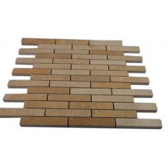 JERUSALEM GOLD 3/4 X 4 BIG BRICK PATTERN MARBLE MOSAIC TILES_MAIN