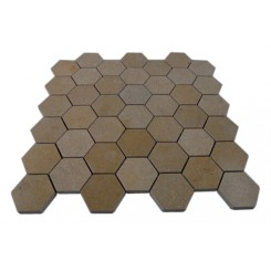 JERUSALEM GOLD HEXAGON MARBLE MOSAICS_MAIN