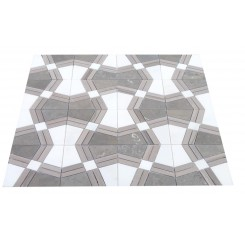 Kaleidoscope Ecru Marble Tile 