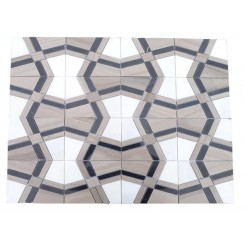 Kaleidoscope Smokehouse Marble Tile 