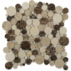 Kinetic Woodlands Circles Marble Tiles