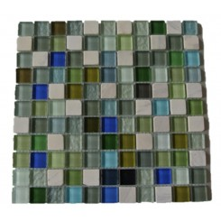 Koi Pond Glass and Stone Tiles