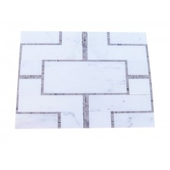 Cul De Sac Athens Gray and Asian Statuary Tile